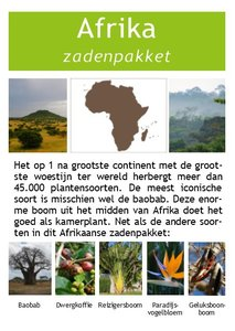 Afrika zadenpakket